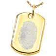 Wholesale Natural Fingerprint Style Cremation Jewelry: Dog Tag