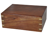 Wholesale Perfect Wooden Box Pet Urn Large shown plain