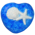 Wholesale Circle of Life Eco Urn: Blue Shell Starfish Heart Small