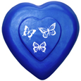 Wholesale Circle of Life Eco Urn: Blue Heart with Butterflies