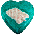Wholesale Circle of Life Eco Urn: Marine Green Shells Heart Urn