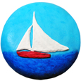 Wholesale Circle of Life Eco Urn: Spirit of the Sea (Sailboat) Painted