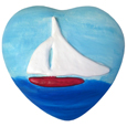 Wholesale Circle of Life Eco Urn: Spirit of the Sea Sailboat Heart Small