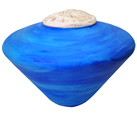 Wholesale Circle of Life Eco Urn: Blue Seapod