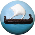 Wholesale Circle of Life Eco Urn: Spirit of the Sea (Viking Ship) Painted