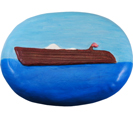 Wholesale Circle of Life Eco Urn: Spirit of the Sea (Wooden Boat) Painted