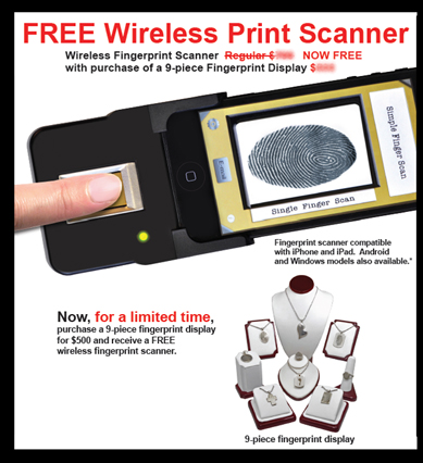 Free Scanner offer with purchase of 5-piece fingerprint display