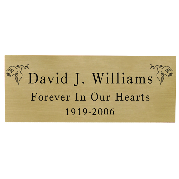 Small Plaques For Engraving Plaque Small Brass Finish