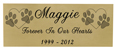 Wholesale Engraved Pet Memorial Plaque- Small Brass Finish