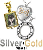 view all silver and gold pet cremation jewelry silver and gold