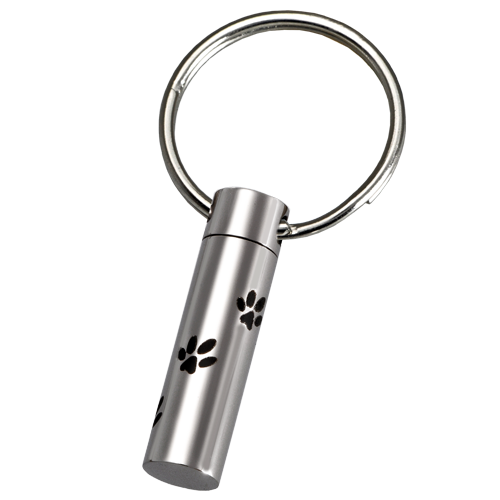 wholesale stainless steel paw prints pet key ring. Black Bedroom Furniture Sets. Home Design Ideas