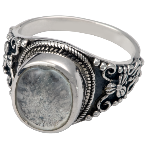 wholesale cremation jewelry ring with clear glass front