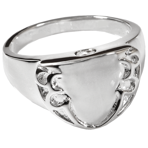 wholesale pet cremation jewelry engravable shield ring