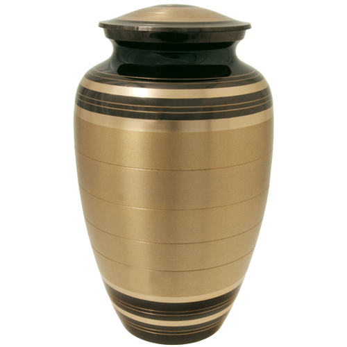 Wholesale Cremation Urns Black And Brass Urn