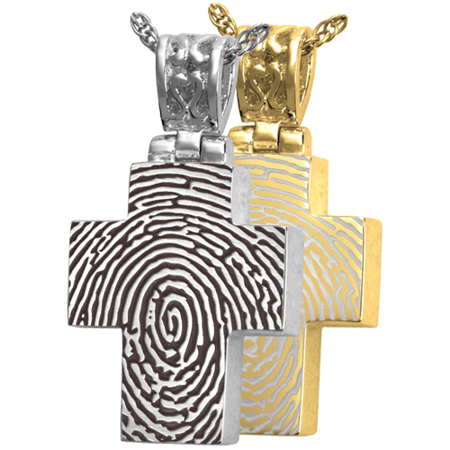 Wholesale Fingerprint Cremation Jewelry Cross With