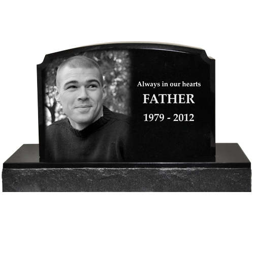 Wholesale Photo Laser Engraved Granite Headstone Traditional