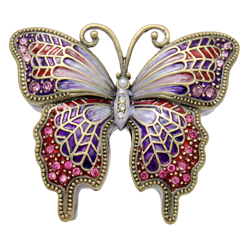 Wholesale Cremation Keepsake Purple Butterfly