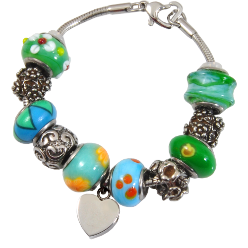Wholesale Cremation Jewelry Remembrance Beads Urn Bracelet- Eternal Green