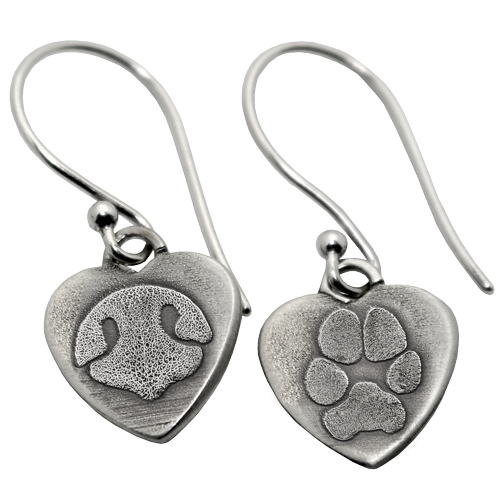 Noseprint and pawprint earrings
