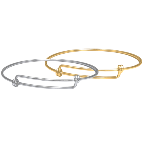Expandable Bangle Bracelet in silver or gold