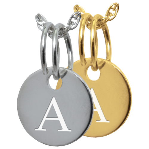 Letter Charm Jewelry in silver or gold-filled