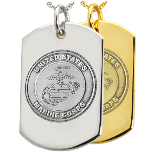 Wholesale B&B Dog Tag Military Jewelry with Marine Corps emblem