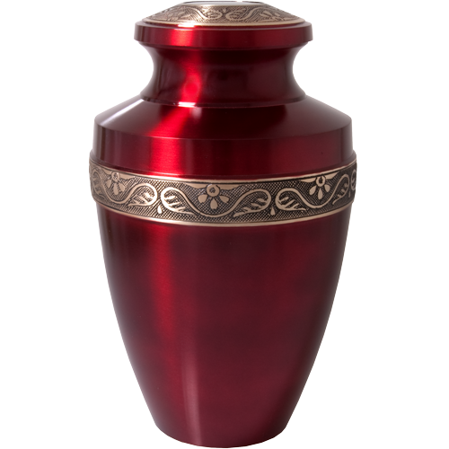 Wholesale Cremation Urns: Scarlet Brass