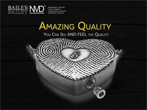 Sample of NMD Marketing Images for fingerprint jewelry