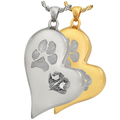 Wholesale Teardrop Heart Pawprint + Noseprint Jewelry in silver and gold