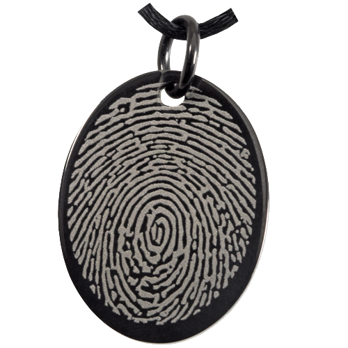 Wholesale Fingerprint Memorial Jewelry: Anodized Stainless Steel Oval