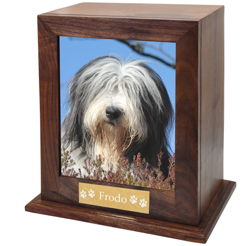 Wholesale Elegant Photo Wood Urn for Large Dogs with plaque & color photo