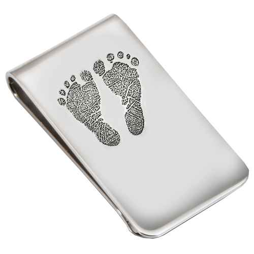 Wholesale Sterling Silver Money Clip- 2 Footprints