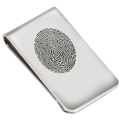 Wholesale Fingerprint Memorial Jewelry: Sterling Silver Money Clip