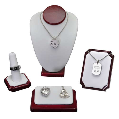 Wholesale Pet Cremation Jewelry Display 5- Piece Starter Kit