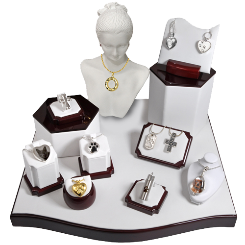Wholesale Pet Cremation Jewelry Display- 11 Piece