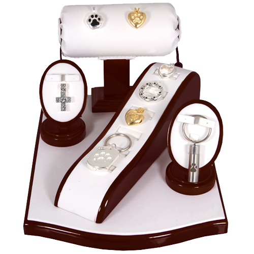 Wholesale Pet Cremation Jewelry Display- Rosewood