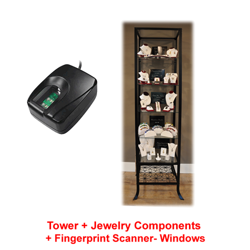Free Fingerprint Scanner with Purchase of All-in-one Tower Display