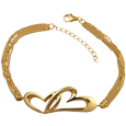 Wholesale Pet Cremation Jewelry Linked in Love Bracelet Gold-Plated