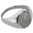 Wholesale Fingerprint Memorial Jewelry: Elegant Round Ring
