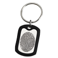Rubber silencer shown with Stainless Steel Dog Tag- Fingerprint key fob
