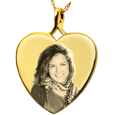 Wholesale B&B Heart Photo Jewelry no chamber in gold-plated