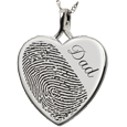 Wholesale B&B Heart Halfprint + Name Jewelry no chamber in silver