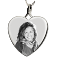 Wholesale B&B Heart Photo Jewelry no chamber style in sterling silver