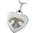 Wholesale Pet Print Memorial Jewelry: Sterling Silver Heart Tag- Noseprint