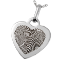 Wholesale Sterling Silver Heart Pendant- Heart-shaped Fingerprint