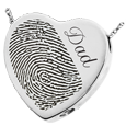 Wholesale B&B Heart Halfprint + Name Jewelry chamber silver