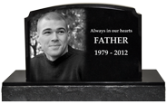 Wholesale Photo Laser Engraved Granite Headstone- Traditional