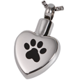 Wholesale Pet Cremation Jewelry Stainless Steel Paw My Heart