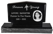 Wholesale Photo Laser Engraved Granite Headstone- Diamond
