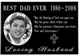 Front view Wholesale Photo Laser Engraved Granite Flat Headstone- 1